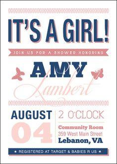 Baby Shower Invite #invite #invitation #print #design #collateral #type #typography