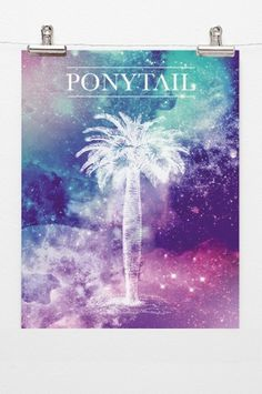 ponytail - alessandra tassera #palms #design #graphic #space #poster #collage #typography