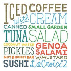 BARREL BODY #menu #food #custom #type #typography