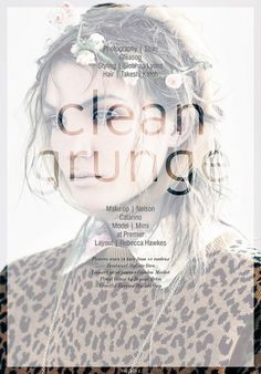 Clean Grunge | Volt Café | by Volt Magazine #beauty #design #graphic #volt #photography #art #fashion #layout #magazine #typography