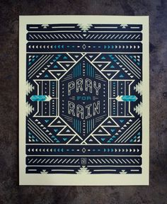 FFFFOUND! | Neighborhood Studio - ART PRINTS #print #american #geometric #blue #dark #native
