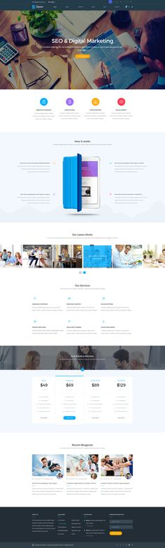 Opton – Multi-Purpose template offers more than 100 different pages and shortcodes to build a creative website for any purpose.