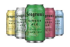 ginger ale & mixer packaging #packaging #cans
