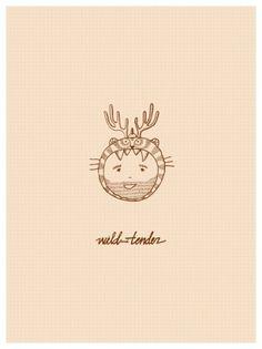 Char Lee   Illustration #wild #tigger #boy #beard #illustration #animals #charlee