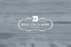 design work life » cataloging inspiration daily #emblem #bird #logo #wood #type #typography