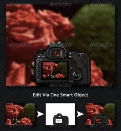 Camera Mockups PSD for Designer