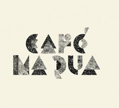 Café na Rua — Branding on Typography Served #typography