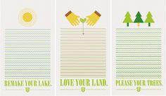 Steph Davlantes | Design + Watercolor #lakes #land #environment #sustainability #clean #steph #davlantes #posters #trees