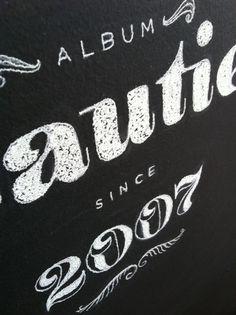 vaalbuns_chalkboard lettering_06 #illustration #lettering #chalk