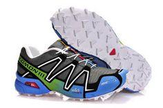 Salomon Mens Shoes Speedcross 3 Athletic Running Sports Outdoor green blue grey black white