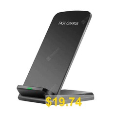 Qi #Wireless #Fast #Charger #Charging #Stand #Dock #Pad #for #Samsung #Galaxy #S8 #/ #S8+ #/ #Note #8 #iPhone #X #/ #8 #Plus #8 #- #BLACK