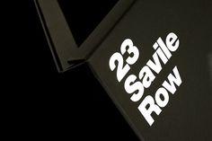 dn&co. | 23 Savile Row #print #typography