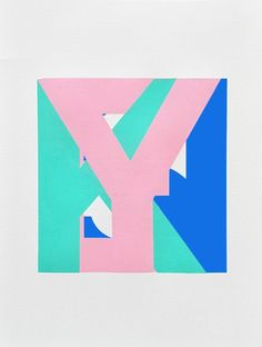 YIKES #design #art #typography #type #painting #letter