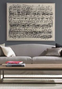 Create an oversized sheet music print... would mancub go for this?! it'll either be music or a recipe... Rent Direct.com New York's Lar #print