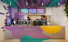 Tealive Bubble Tea Shop with a Striking Ceiling Installation 8