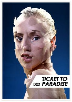 DOX Ticket to Paradise on the Behance Network #portret #roquefort #poster #theatre