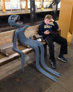 NYC Subway Doodles by Ben Rubin