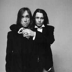Iggy Pop & Johnny Depp #photography #blackwhite