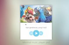 Minimal music player ui design psd Free Psd. See more inspiration related to Music, Design, Ui, Psd, Minimal, Player and Horizontal on Freepik.