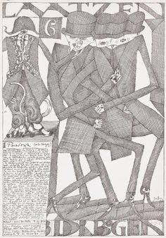 Laatzen Bilderbogen 6 1967 Horst Janssen #janssen #poste #horst #illustration #poster