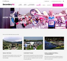 Secondary1st breast cancer charity web design