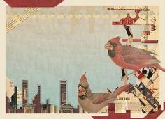 the portfolio and artwork of kyle mosher | KyleMosher.com #kyle #birds #mosher #mixed #media #collage