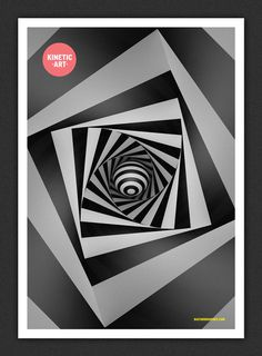 Kinetic Art #white #print #black #digital #poster #kinetic