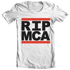 RIP MCA Hand Screened Tee by AaronBlackDesign on Etsy #rip #aaron #design #beastie #shirt #black #boys #mca