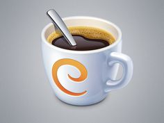 Caffeinated App Icon #icon #ramotion #illustration #app #coffee #cappuccino #cup #mac