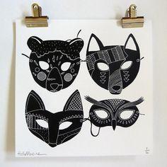 Masques by Hellomarine on Etsy #masques #hellomarine