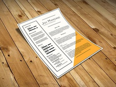 Joy - Free Resume Template for Present your Profile