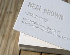 Neil Brown Hospitality Group : Lovely Stationery . Curating the very best of stationery design #business card #white #graphics