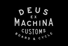 L A N D #typography #logo #land #deus #ex #machina #customs
