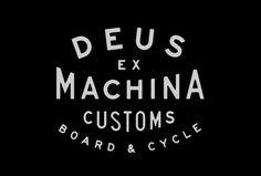 L A N D #typography #logo #land #deus #ex #machina #customs