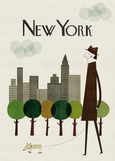 Illustrated cities : Cosas mínimas #blanca #group #gmez #the #illustration #poster #art #york #new