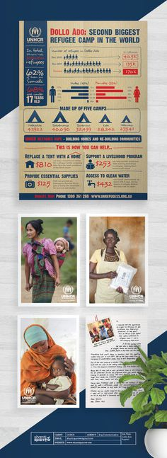 Design by Shanti Sparrow Client: UNHCR Project Name: Dollo Ado Appeal www.shantisparrow.com #Design #graphicdesign #illustration #layout #e