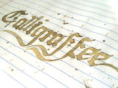 Calligraffee by Brian Stephens #design #graphic #quality #typography