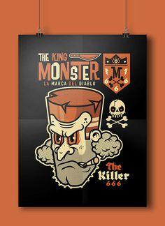 THE KING MONSTER 666 on Behance #vector #black #devil #illustration #poster #monster #666 #killer
