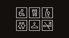 Spinderihallerne Icon Set, by Bo Virkelyst Jensen. #graphic design #design #creative #icon #black #inspiration