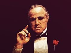 . #brando #hollywood #marlon #godfather #poly #polygonal
