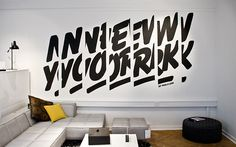 Interior design(Designed by Re public. Via type lovers) #design #graphic