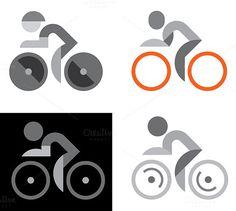 Cyclist logo #bicycle #icon #cyclist #logo #cycling