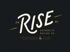 RISE Authentic Baking Co. Logo baking identity art direction design type typography bakery brand handlettering handdrawn branding logo ___ Josh Kulchar