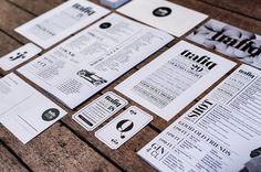 Trafiq Bar Identity #print #food #stationery #trafiq #typography