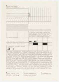 MoMA | The Collection | Mira Schendel. Untitled from the series Datiloscritos (Typed writings). 1974 #typewriter #chart