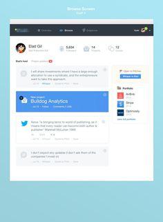 Browsefull #application #design #feed #dashboard #web