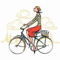 #illustration #KathrynRathke #linework #bicycle