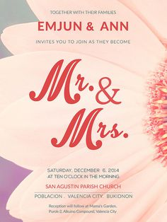 MR and MRS | Flickr - Photo Sharing! #typography