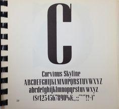 Daily Type Specimen | Corvinus Skyline #font #specimen #type #typography