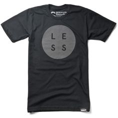 LESS (Black) #clothing #less #apparel #ugmonk #tshirt #minimal #typography